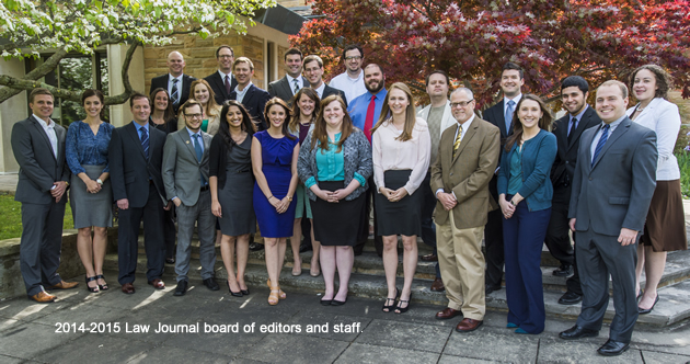 2014-2015 Law Journal board of editors and staff.