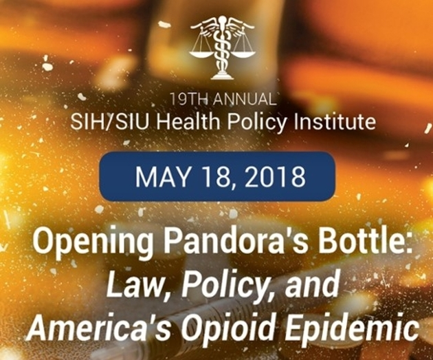 SIU/SIU 19th Annual Health Policy Institute May 18 to focus on nation's opioid epidemic