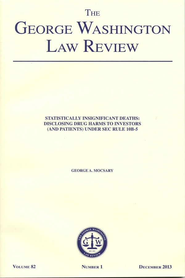 GW Law Review cover