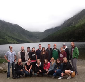 Professor Behan and Law Students in Glendalough, Ireland, in 2012