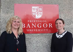 Cindy and Sarah at BU