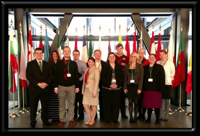 Dean with law students at the European Court of Justice