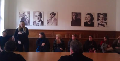 At the Munich Courtroom Memorial to Sophie Scholl and the White Rose Movement