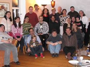 Dean Fountaine with colleagues at the University of Bayreuth in Germany.