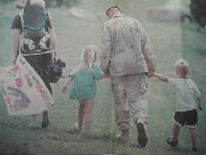 Professor Behan returning from his deployment to Egypt