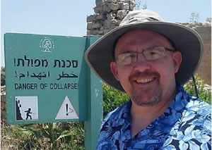 Professor Behan in Caesarea, Israel, in June 2013