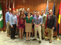 Students with U.S. Consul General Niels Marquardt in Sydney, Australia