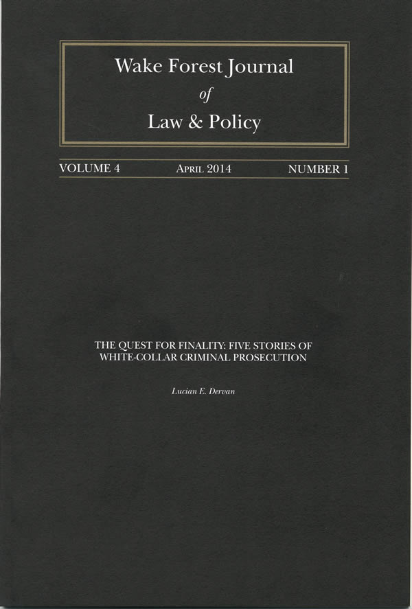 Wake Forest Law Review Cover